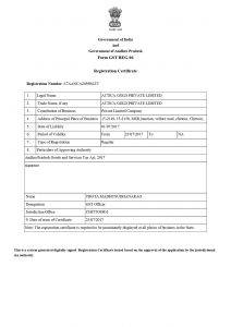 Attica Gold License & Certificates